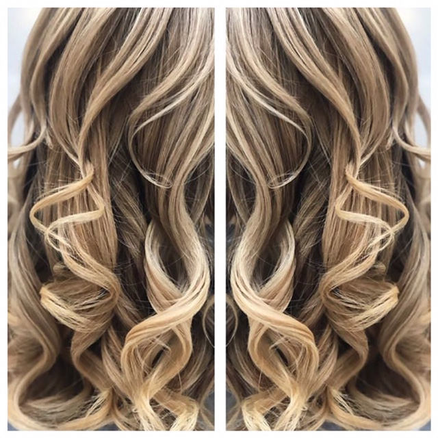 17e1389aa39d Long balayaged hair curled into perfection by Leyla at the klinik  hairdressing London