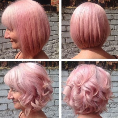 Change your blond hair by using Pink Moon by Fudge at the klinik salon