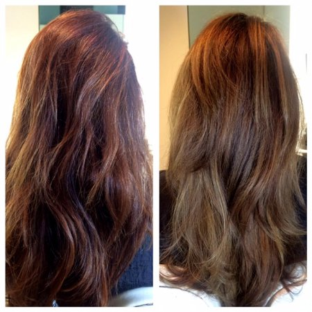 Total colour change by Leyla at the klinik going from a warm tone to a cool finish