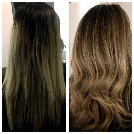Hairtransformation to keep regrowth to a minimum upkeep by Leyla at the klinik hairdressing London EC1R 4QE