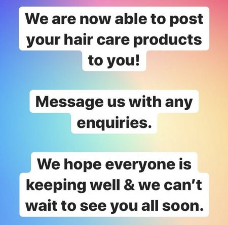 Home Hair Care Products that we can post to you from the klinik