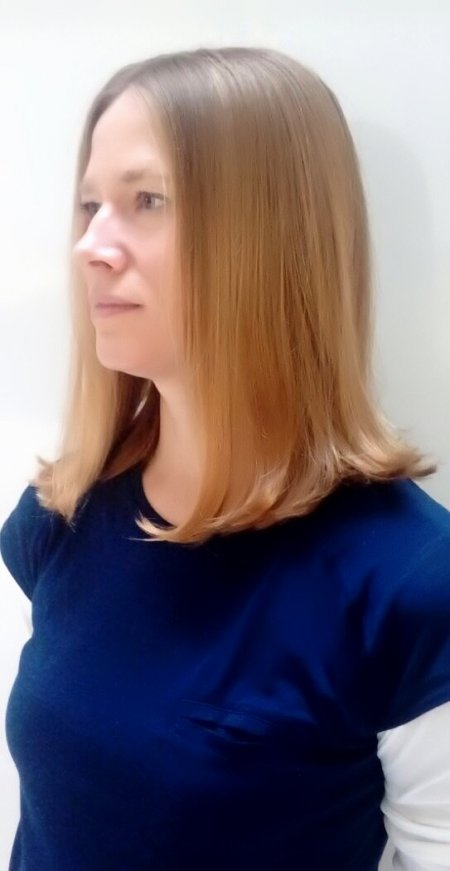 Our new graduate stylist Nik has cut this beautiful long layered A-Line shape with a soft drop to the front.