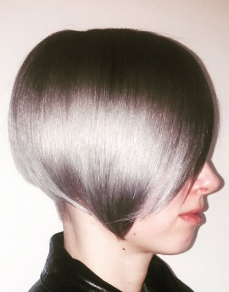 This is colour at its best..... Mark has pre lightened hair and after toned it with a silver / grey combination from Schwarzkopf.