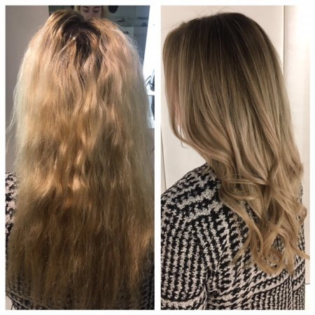 Leylas client felt her hair was getting too light and her root regrowth was becoming a bit of a high upkeep.