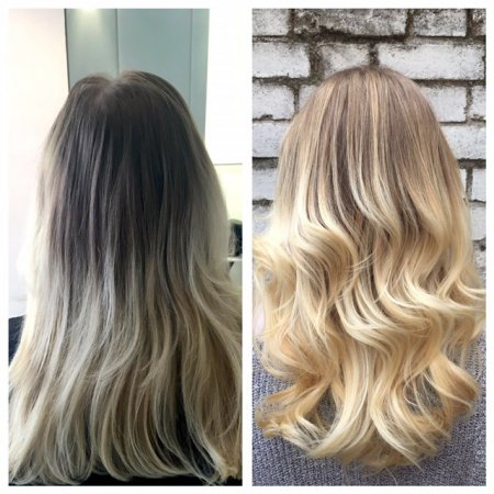 Old tired looking blonde hair has been highlighted to create a super sunny blonde by Leyla at the klinik