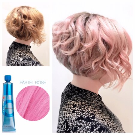 f30d95f9558b Natural copper toned hair being coloured pastel rose by Anna at the klinik  hairdressing