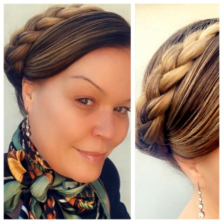 hair being plaited to show how easy it is to do at home