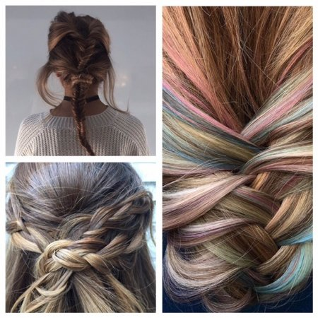 Hair can be plaited at any way to create texture or knots. Perfect for the upcoming festival times ahead! at the klinik hairdressing London. And why not using the Schwarzkopf Instant Blushers!