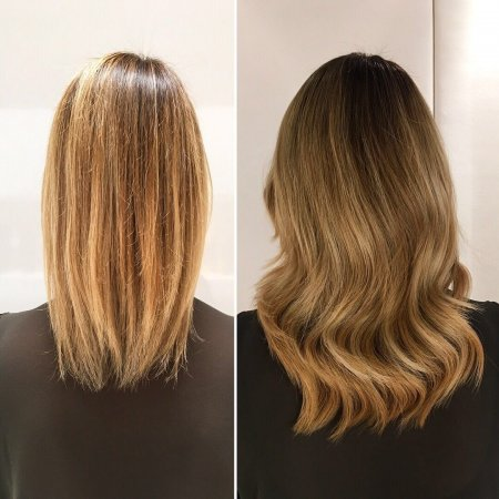 Blonde hair extensions by Leyla at the klinik hairdressing in London. Easilock system adds length and thickness to any hair and it looks super natural!