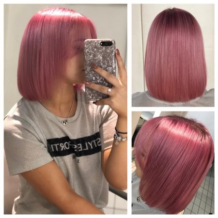 Pink hair using Goldwell Pastel Rose by Leyla at the klinik hairdressing