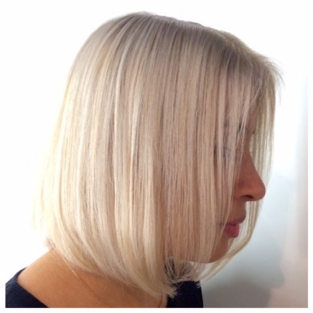 Hair has been pre lightened and after required tone added to achieve an ice blonde