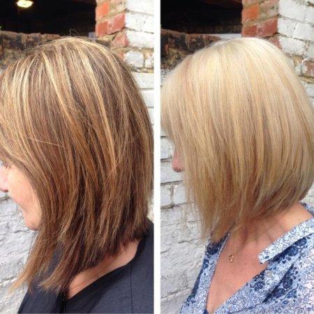 Colour correction using Olaplex at the klinik salon going from dark to light
