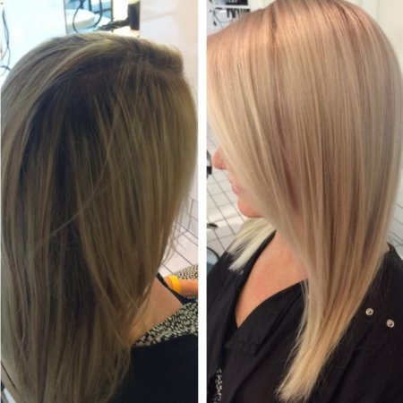 changing your dark blonde to a beautiful light blonde.