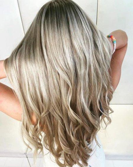 super long highlighted hair