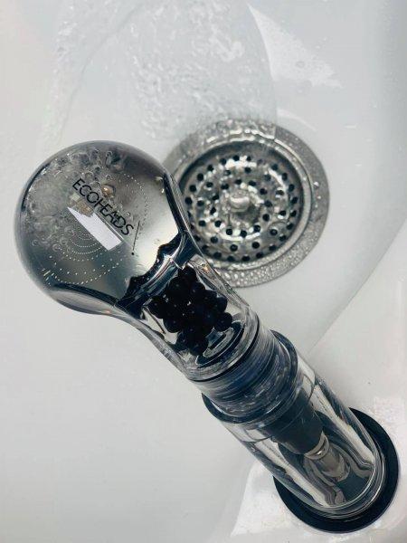 New eco friendly showerheads at the klinik backwash area called Ecoheads