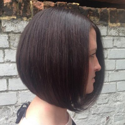 Graduated Bob cut by Anna at the klinik salon Islington, Farringdon