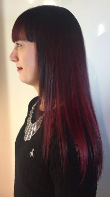 Pravana Red fade by Mark using it to give it a soft blend.