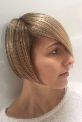 Classic Sassoon graduated bob cut and coloured by Mark at the klinik hairdressing London using Wella products throughout.