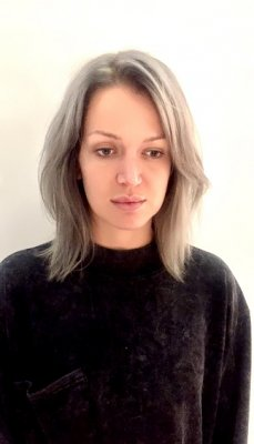 Our graduate stylist Nik has given this clients faded blonde a new lease of life by toning it with Schwarzkopf. Starting with a root shadow with dove, moving in to a slate grey and then silver on the tips.