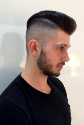 Mark has given his client the perfect Skinfade with a rockabilly quiff at the front at the klinik hairdressing London