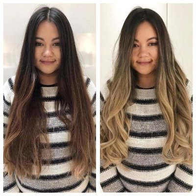 Big colour change need two stylists to be able to get this clients long thick hair coloured to requested tones. Done by Leyla and Thea at the klinik hairdressing London