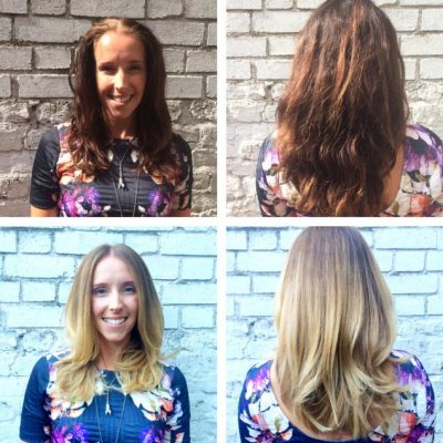 Dark brown to light Blonde using Olaplex at the klinik hairdressing
