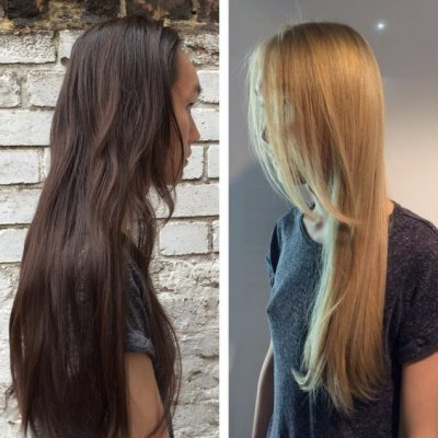 How to change a colour from dark brown to icy blonde on asian hair in one visit.