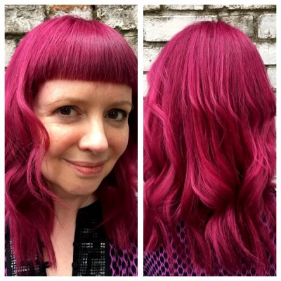 Hair being pre lightened and then toned using global toner by Schwartzkopf by Jenni at the klinik hairdressing