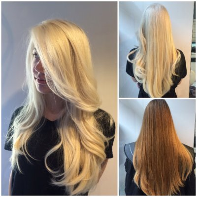 Blonde change with Olaplex at the klinik salon Islington