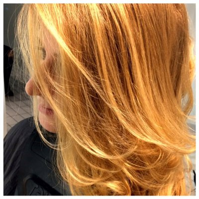 Blonde highlights using a freehand technique with Wella Free Lights Clay to create a natural flow of ghlights