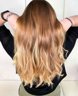 Long hair looking incredible after a colour correction at the klinik salon