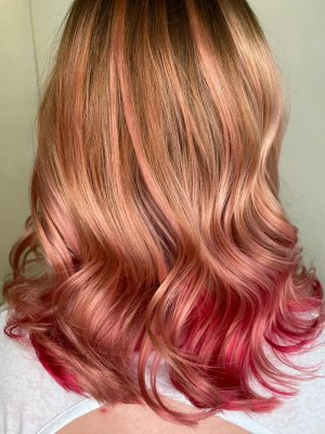 Pulpriot Rose gold hair