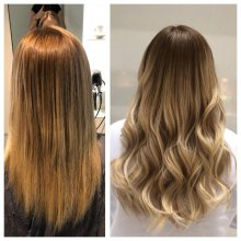 Easilocks hair transformation by Leyla at the klinik. 120 strands of hair was used.