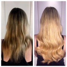 Leyla has used Easilocks system to add length to her clients already blonde hair. If you want longer hair in an instant? Come and see Leyla at the klinik!