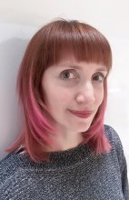 Hair being coloured a copper into a pink by L'Oreal and Manic Panic by Jenni at the klinik hairdressing in London EC1R 4QE
