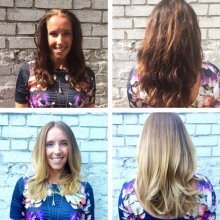 Dark brown to light Blonde using Olaplex at the klinik hairdressing
