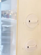 White Sibel mirrors in the backwash area of the klinik salon London