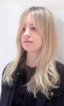 Long blonde highlights done at the klinik using wella and loreal and goldwell.