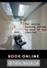 Online booking at the klinik salon