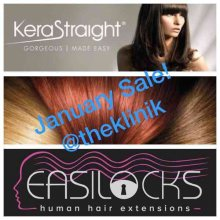 January Sale at the klinik with Leyla and Carlo doing semi and permanent colours. Kerastraight and Easilocks extensions at the klinik hairdressing London
