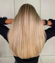 long blonde hair