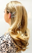 Free diamante clip when you have your hair blowdried at the klinik hairdressing London.