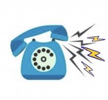 Blue phone on loud ring saying the klinik salon is opening!