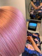 Pink hair colour at the klinik