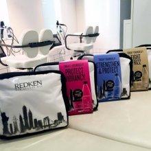 Redken cosmetic bag deal at the klinik salon.