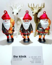 thre santas announcing last day of business to get your hair done is Wednesday the 23rd of December