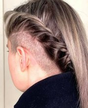 Under shave by Jenni at the klinik salon, she hs twisted the hair to show it off